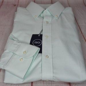 1901 Men's White Oxford Trim Fit Dress Shirt 15